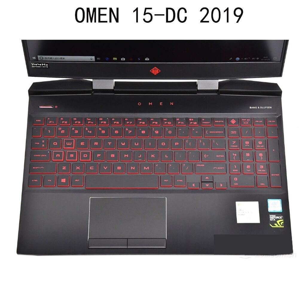 Cubiertas de teclado para HP OMEN 15-DC 15-DH series DC0005TX dh0135tx 15,6 pulgadas gaming 2019 silicona transparente antipolvo nuevo