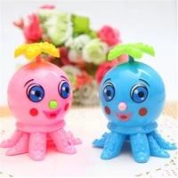 1pc baby octopus clockwork bath toys fidget toys swimming shower games beach water toys amphibious clockwork decompression toys