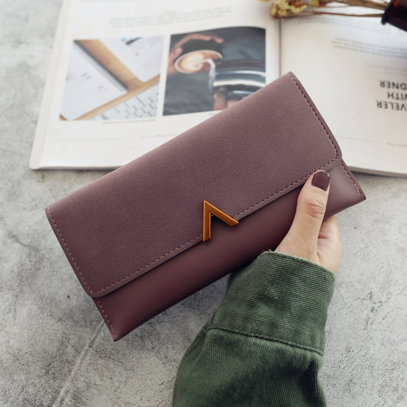 AliExpress - 2021 Women's Wallets Leather Hasp Lady Money Bags Zipper Coin Purse Female Envelope Wallet Credit Card Holder Clutch For Girl