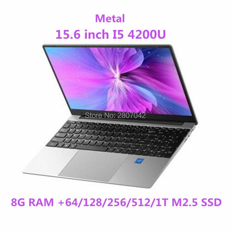 Computadora Portátil intel core i5 4200U, 15,6 pulgadas, 8GB RAM, 64/128/256/512GB/1T SSD, pantalla HD 1920*1080, ordenador portátil Windows 10