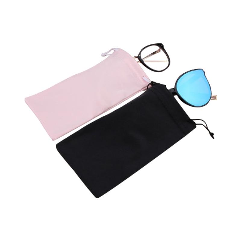 Tela suave de gafas de sol, bolsa de microfibra de almacenamiento a prueba de polvo gafas bolsa portátil gafas caso contenedor