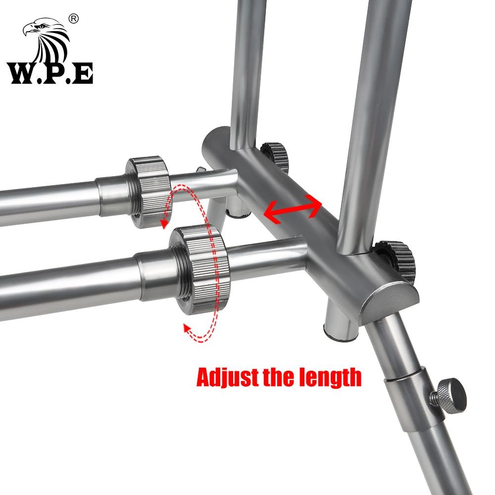 W.P.E Fishing Rod Pod Pole Stand Bracket Adjustable Retractable Folding Carp Fishing Rod Holder Fishing Accessories Tackle Pesca enlarge