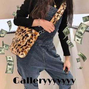 Fashion Winter Leopard Messenger Bags Cell Phone Pocket Purse Female Shoulder Bag Casual Satchel Crossbody Bags For Women