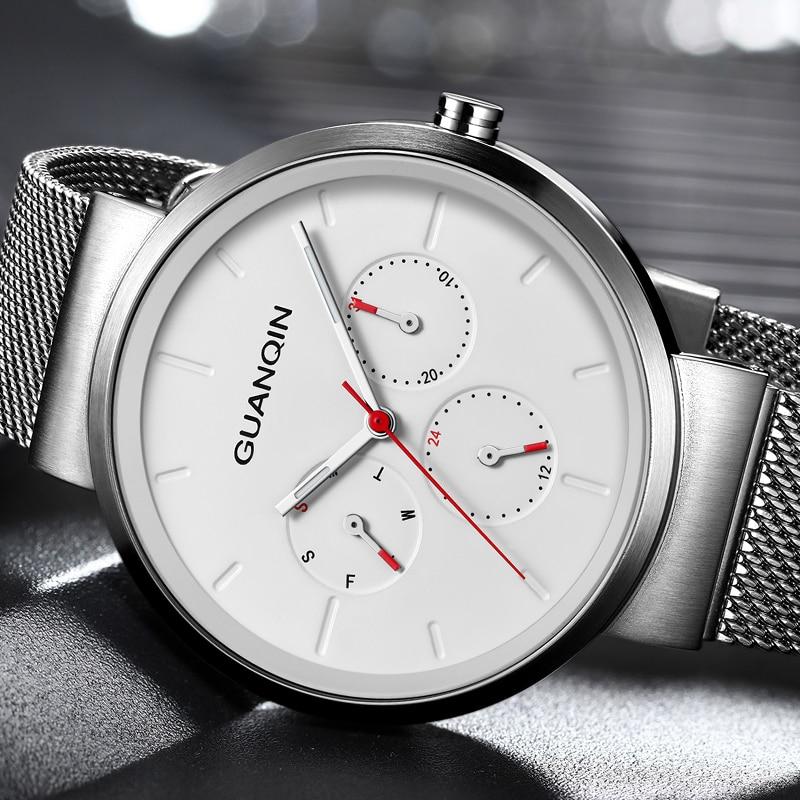 Guanqin-ساعة GS19103 للرجال ، ساعة يد كوارتز فاخرة ، رياضية ، عصرية للرجال ، 2020