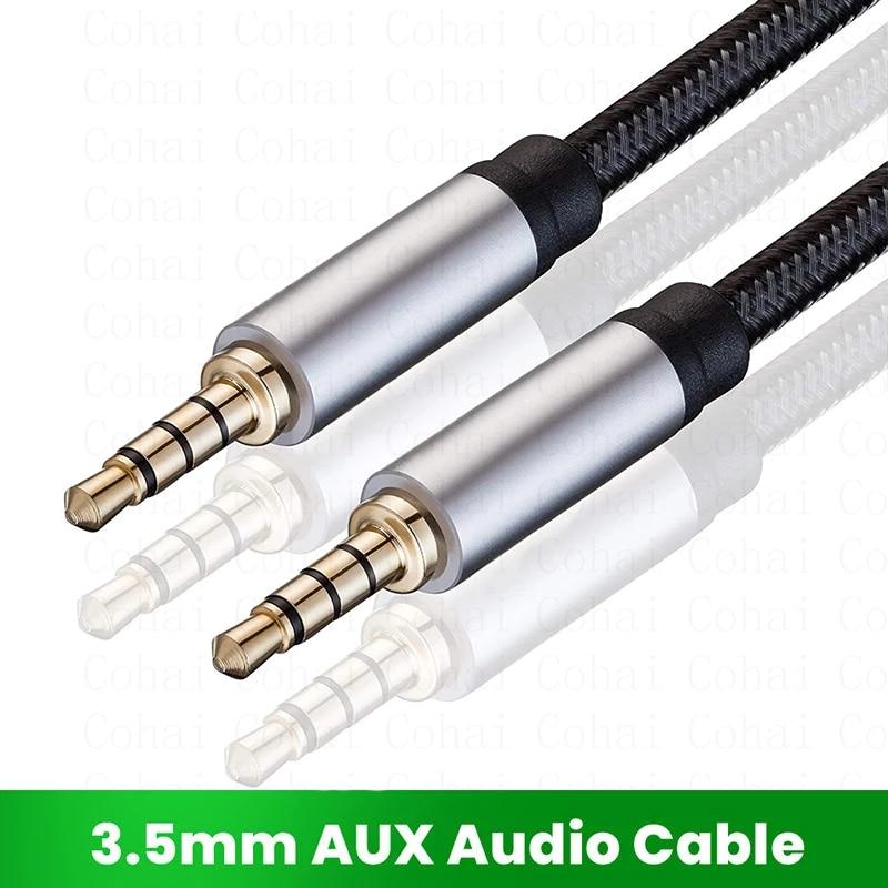 Conector de Audio de 3,5mm para Samsung S10, Cable auxiliar macho a...