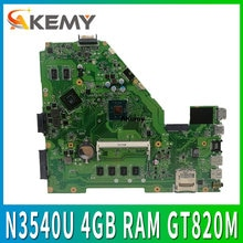 X550MD Motherboard For ASUS X550M X552M Y582M X550MJ X552M Laptop Motherboard N3540U 4GB RAM  GT820M GPU  mianboard 100% test ok