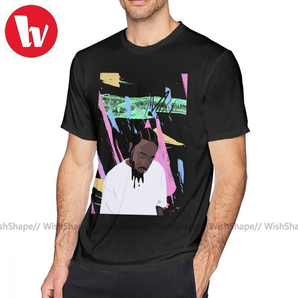 The Weeknd T-Shirt Kendrick Lamar T-Shirt imprimé à manches courtes T-Shirt homme décontracté 100 coton amusant surdimensionné T-Shirt
