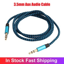 3.5mm Jack Cable Multi-color Nylon Audio Cable Aux Line Cord For Car TV Computer CD Player VCD DVD M