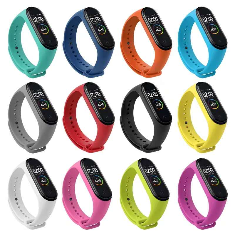 Silicone Watch band For Xiaomi Mi Band 4/5/6 Mi Band6 Bracelet for Miband 5 Wristband for mi band4 Smart Watch Replacement Strap