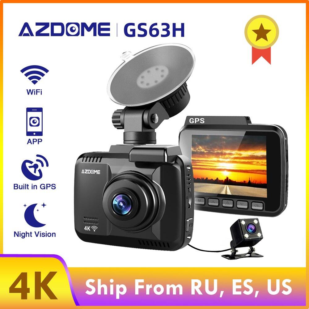 AZDOME Dash Cam GS63H 4K Gebaut in GPS Geschwindigkeit Koordinaten WiFi DVR Dual Objektiv Auto Kamera Dash Kamera Nacht vision Dashcam 24H Park