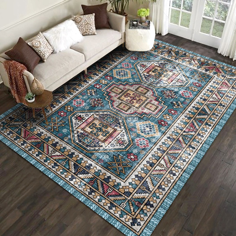 American Retro Carpet Nordic Ethnic Style Living Room Sofa Coffee Table Cushion Bedroom Bedside Blanket Bohemia Mat