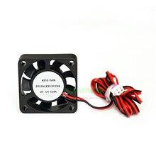 1 piezas de 12 V/24 V Mini extrusora de radiador de refrigeración 4010 ventilador 1 metro de cable piezas de impresora Anet 3D