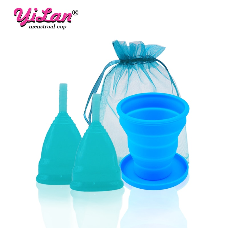 AliExpress - 2pcs Menstrual Cup Women Period Cup Medical Grade Silicone Lady Cup Feminine Hygiene Menstrual Collector Gift Vaginal Tampons