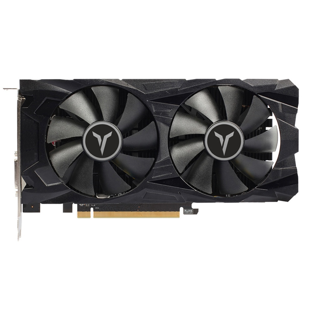 Tarjeta gráfica Yeston RX560D RX 560 D 4G D5 GAEA doble ventilador refrigeración 4GB memoria GDDR5 128bit DP + HD + DVI-D GPU disipador de calor mejorado