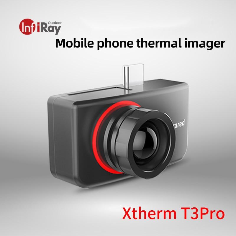 InfiRay T3pro كاميرا تصوير حراري الهواتف الذكية أندرويد نوع C درجة احترافية للرؤية الليلية جهاز محمول بالأشعة تحت الحمراء