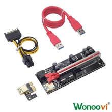 PCIERISER Graphics Card Extension Cable USB3.0 Graphics Card PCI-E Connector 1X To 16XVER009SPLUS 6p