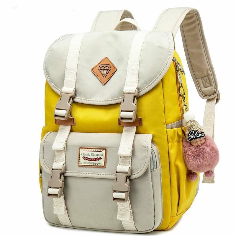 Nuevo Junior mochilas de escuela para niñas Mochila de estudiante de bolsa...