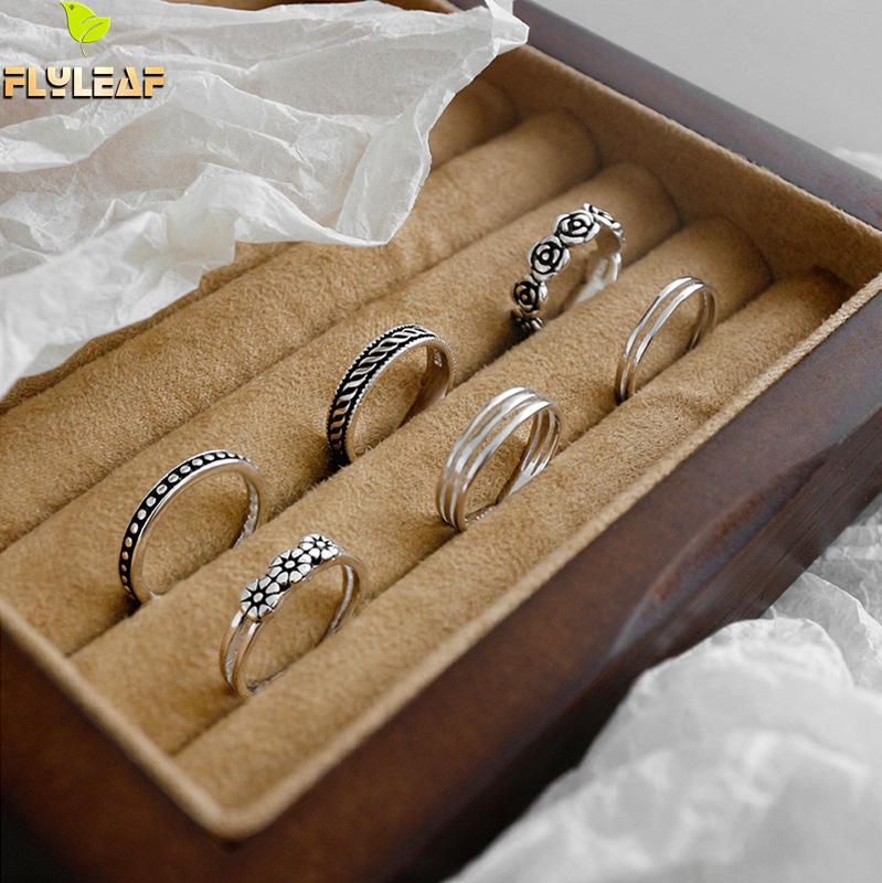 Женское Винтажное кольцо Flyleaf 925 пробы, серебряное кольцо в стиле ретро
