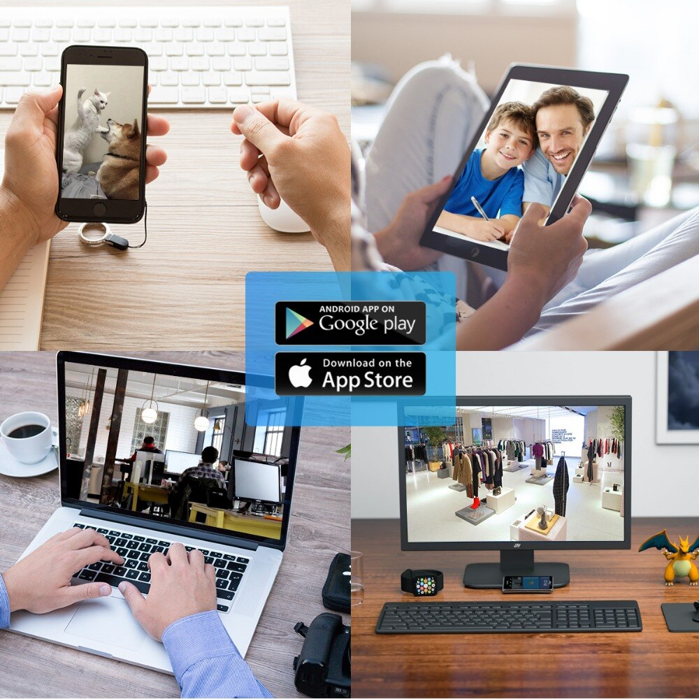 ANBIUX 1080P Wifi IP Camera 720P IR Night Vision Motion Detect Home Mini Security Camera Two Way Audio Pet Camera Baby Monitor