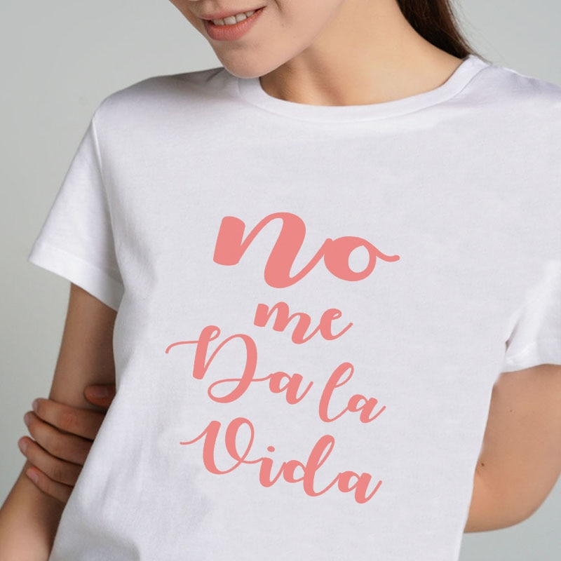 Camiseta de Moda para Mujer, ropa de calle de cuello redondo, Camiseta...