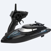 new rc boat 2 4 ghz remote control speedboat kids toy high speed racing ship rechargeable batteries for children gift