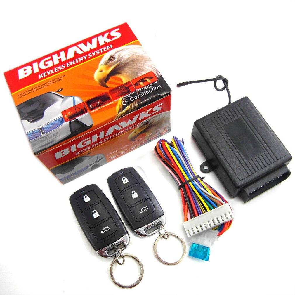 Universal Auto Türschloss Keyless Entry + Release Remote Zentralen Locking Kit Anti-Diebstahl Gerät Set 602-8238
