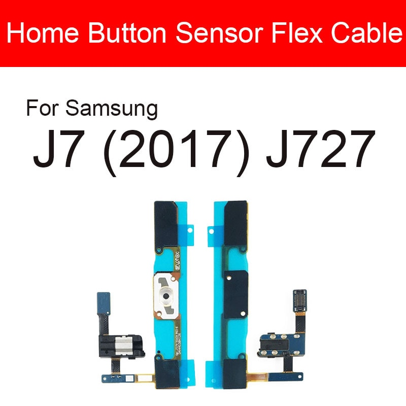 Home Button Flex Cable For Samsung Galaxy J7 (2017) J727 Menu Key Return Audio Jack Port Flex Ribbon