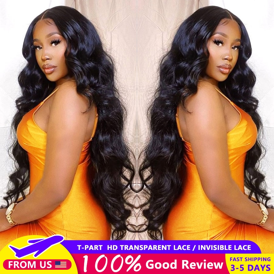 Body Wave Lace Front Wig Pre Plucked Brazilian Transparent Lace Wigs Human Hair Lace Frontal Wigs Wig Remy T Part