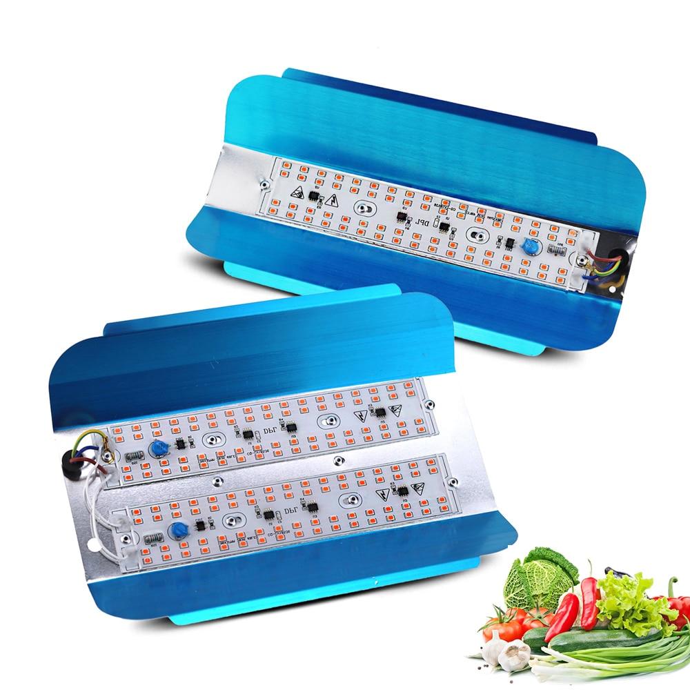 Lâmpada led de crescimento total espectro, 100 w 50 w, phyto, para piscina, para áreas externas, à prova d água ip65 para plantas medicinais