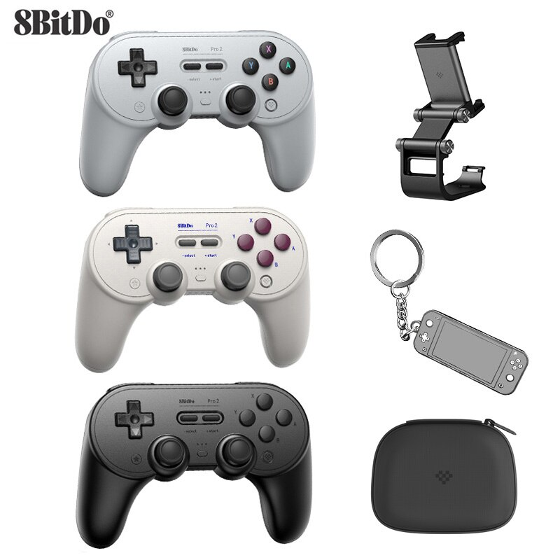 8Bitdo Pro 2 Bluetooth Gamepad Controller for Switch PC macOS Android Steam For Raspberry Pi For Nintendo Switch Game Control