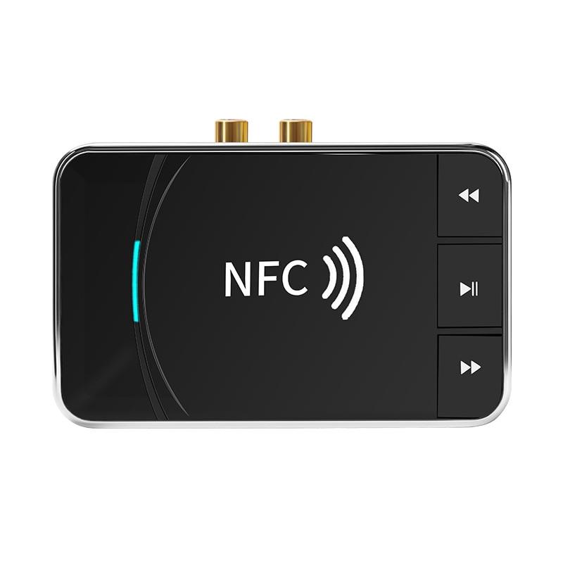 NFC5.0 بلوتوث استقبال الصوت سماعة خمر إلى سماعة لاسلكية تعمل بالبلوتوث واجهة AUX 3.5 واجهة