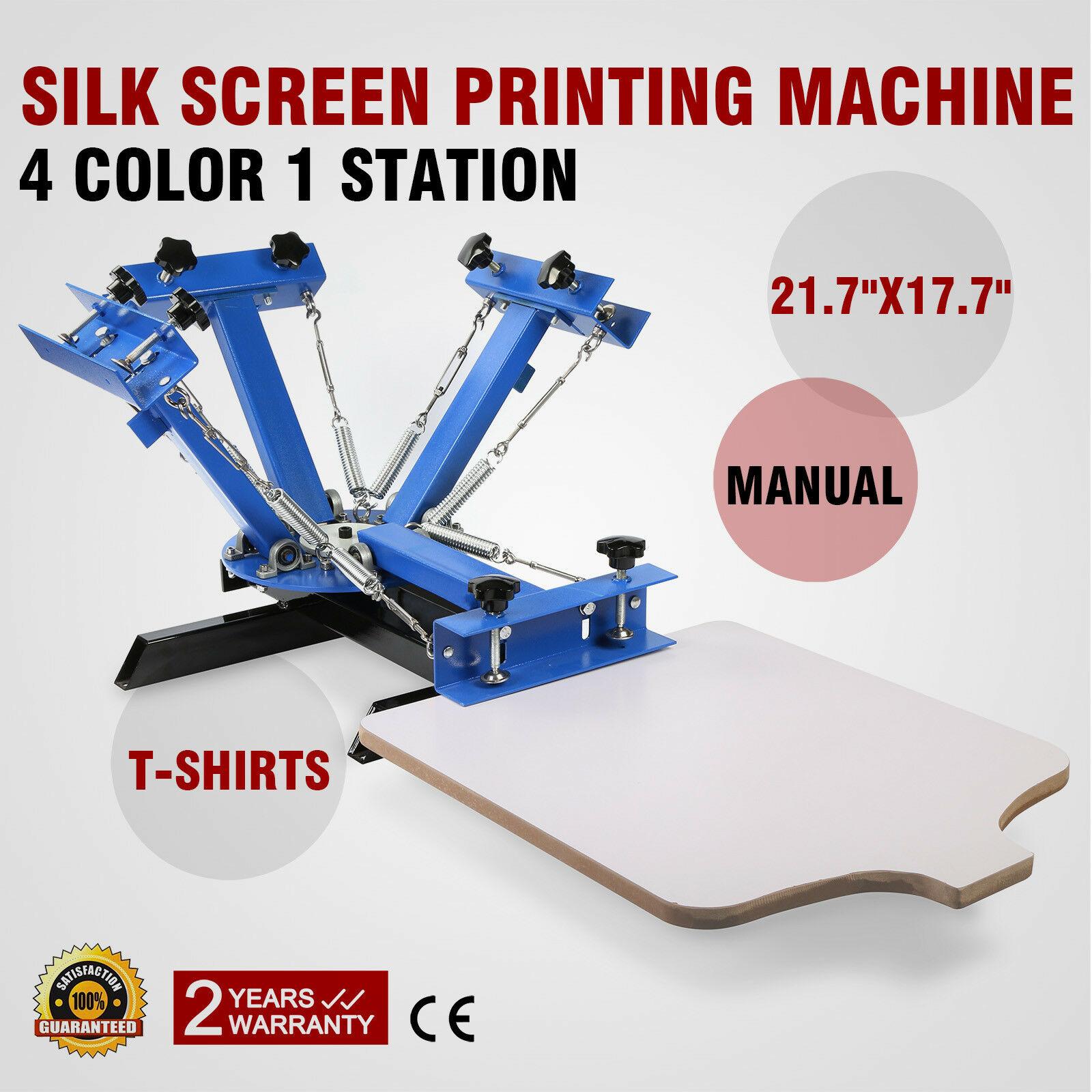 Машина для трафаретной печати, 4 цвета, 1 станция, трафаретная печать для печати футболок «сделай сам» со съемным поддоном
