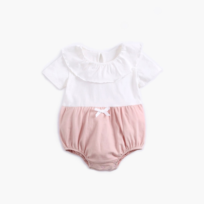 ATUENDO Summer Fashion Newborn Baby Rompers 100% Cotton Kawaii Soft Kids Babysuits Cute Infant Girl'