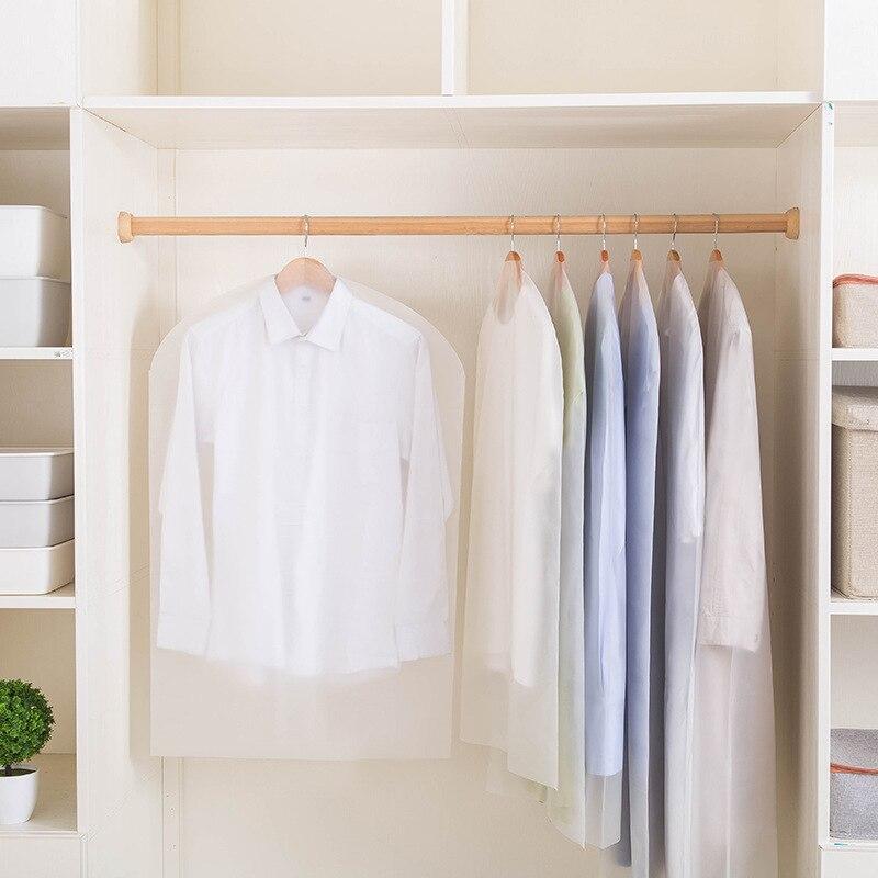 Funda transparente PEVA para colgar ropa, bolsa para vestir, ropa, traje, funda para polvo, bolsas hogar almacenamiento organizador de armario