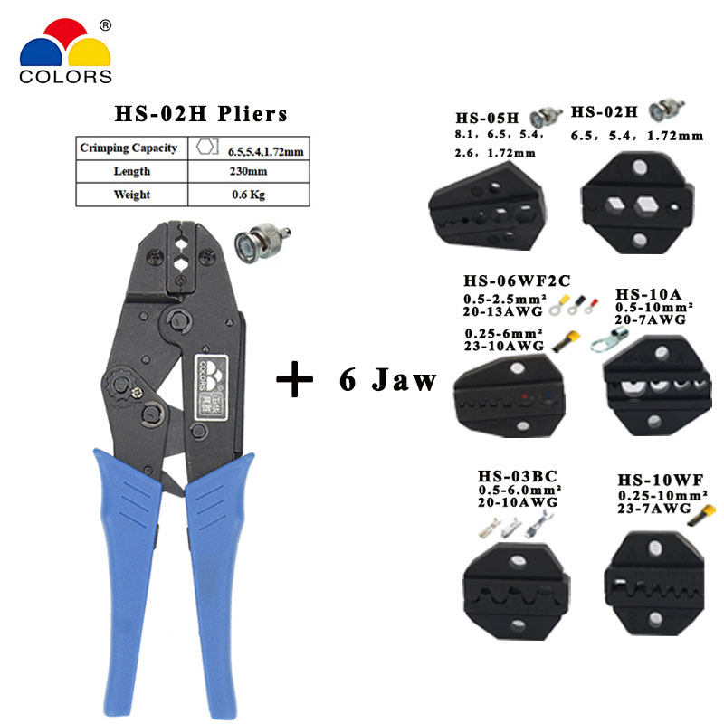 HS-02H coaxial crimping pliers RG55 RG58 RG59,62, relden 8279,8281,9231,9141 coaxial crimper SMA/BNC connectors tools