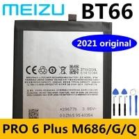 new original meizu 3400mah bt66 battery for meizu pro 6 plus 6plus 6 m686 m686g m686q smartphone batteries