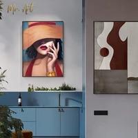 Affiche moderne elegante et Sexy pour femmes  impression de mode  peinture sur toile  tableau dart mural pour salon  chambre a coucher  couloir  decor de maison