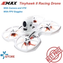 EMAX Tinyhawk II 75mm 1-2S Whoop FPV Racing Drone RC Quadcopter BNF RTF w/ FrSky D8 Runcam 2 Cam Cam