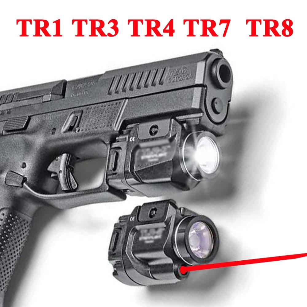 Tactical SOTAC TLR Fullsize LED Weapon Light With Red Laser Sight For Pistol Hunting Glock 17 19 3 4