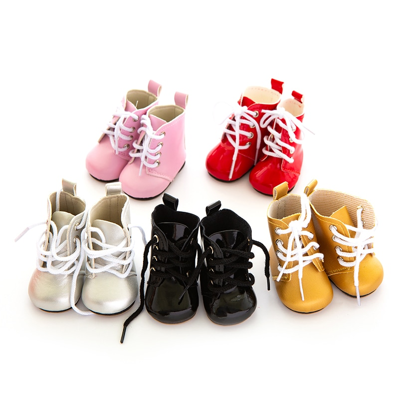 Leather Shoes Born Baby Fit 17 inch 43cm Doll Accessories For Baby Gift