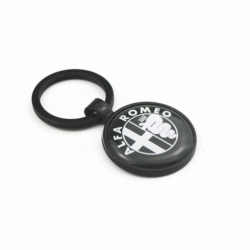 Автомобильная эмблема значок черная цепочка для ключей для alfa romeo 159 147 156 giulietta 147 159 mito брелок для ключей Автомобильный Стайлинг