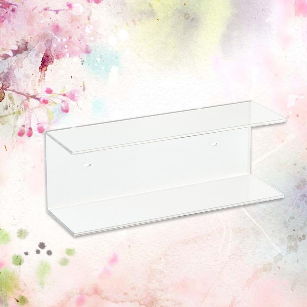 Acrylic Storage Rack Organizer Upscale Luxury Exihibition Rack Display Holder for Hotel Mall(transparent)