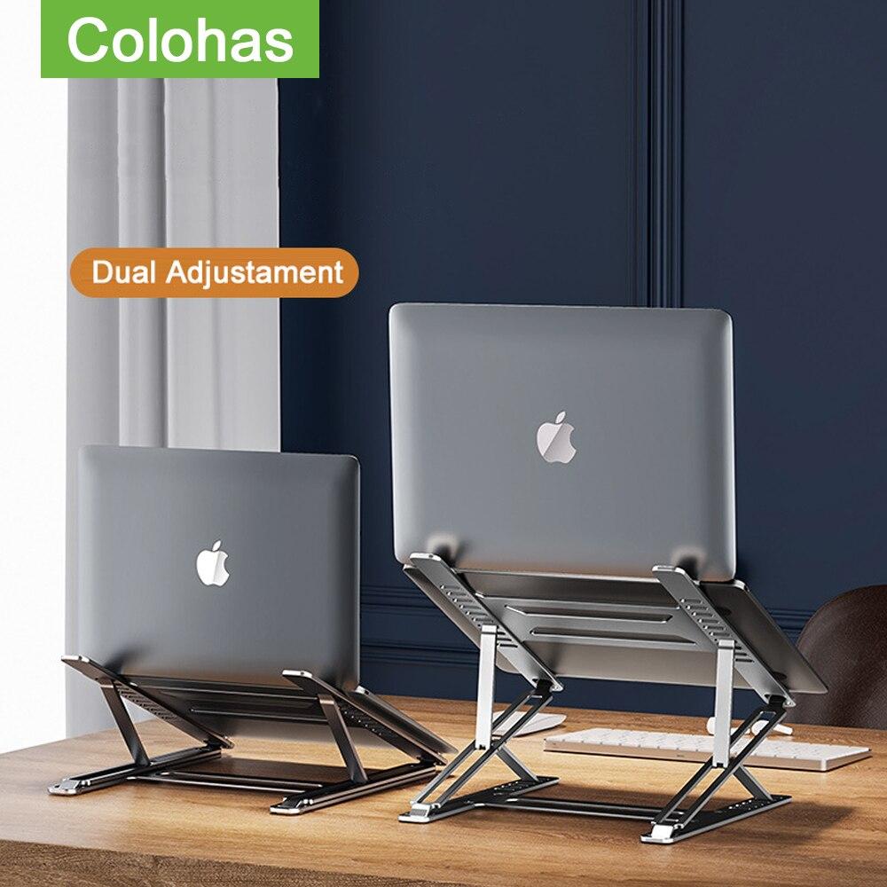 محمول محمول حامل الألومنيوم طاولة الكمبيوتر المحمول قاعدة دعم دفتر الوقوف ل ماك بوك الكمبيوتر باد اللوحي طوي حامل الكمبيوتر المحمول