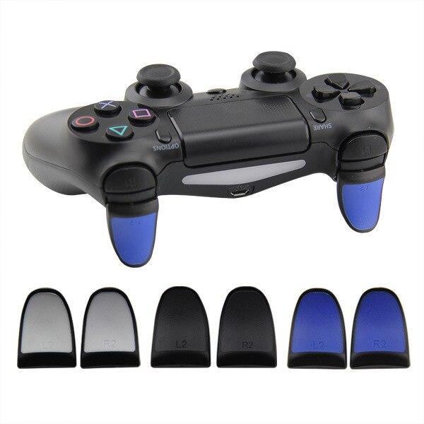 Yoteen para controlador PS4 L2 R2 alargado botón antideslizante PS4 Dualshock 4 botón (2 en 1 paquete) Extensión para gatillo