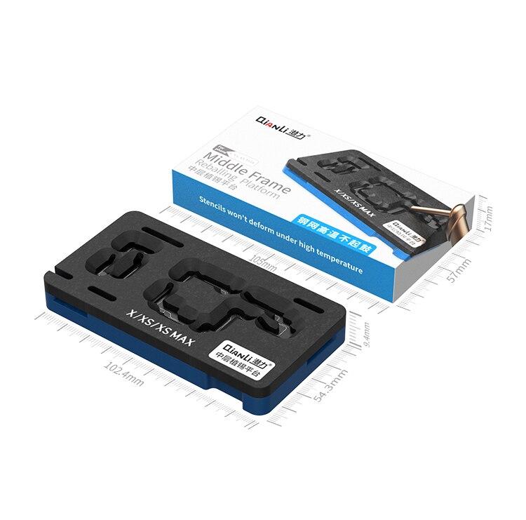 Qianli placa base de capa media BGA Reballing plantilla planta de estaño plataforma para iPhone XS MAX/XS/X Logic Board herramienta de retrabajo