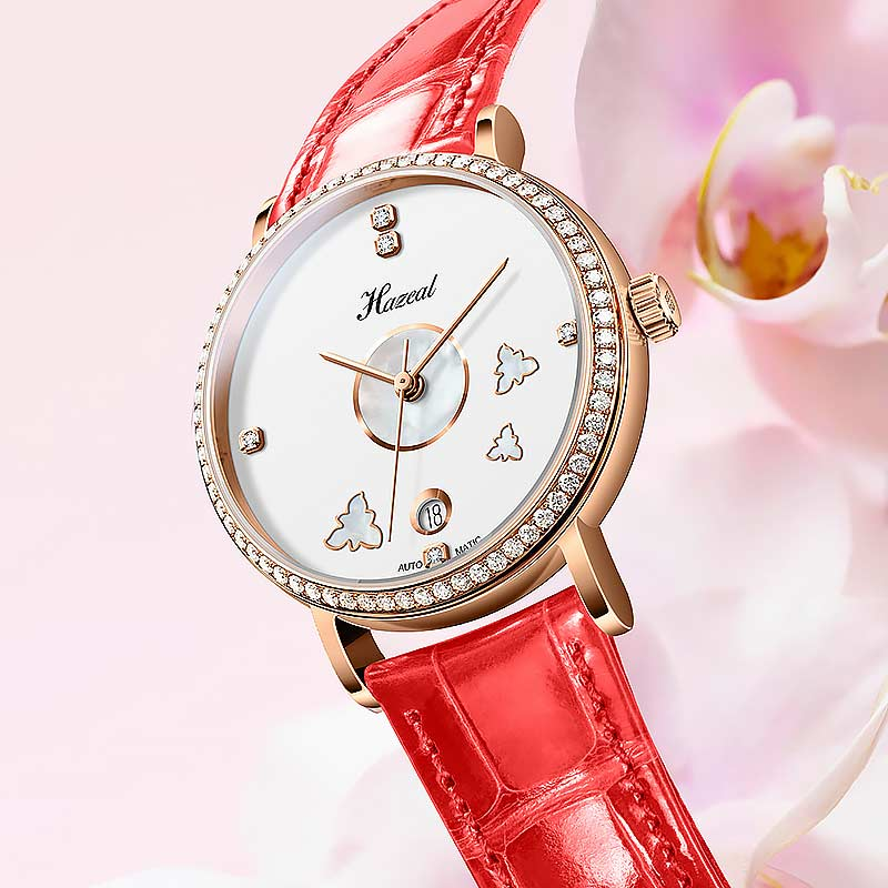 Switzerland Top Brand Women's Mechanical Watches With Leather Steel Strap Auto-Date Ladies Automatic Watch Seagull Movemont enlarge
