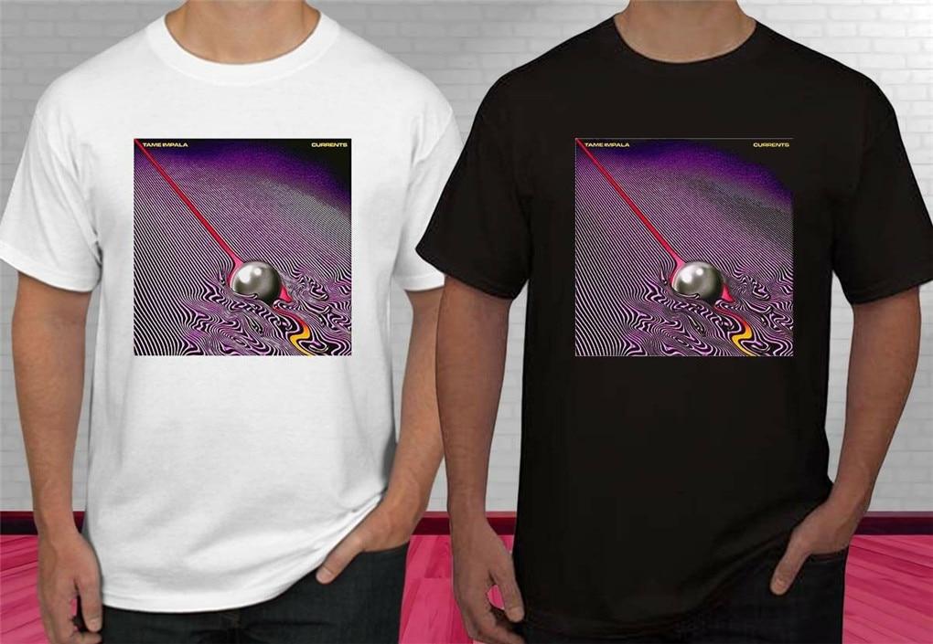 Tame impala concerto logo banda de rock camiseta masculina S-2XL-3XL camisa lazer confortável vogue estética