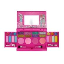 Children's Makeup Cosmetics Playing Box Play Set Princess Makeup Toy Lipstick Eye Shadow Best Gift for Girls