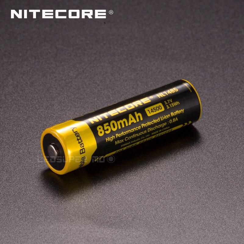 2 قطعة عالية الأداء Nitecore NL1485 850mAh المحمية قابلة للشحن بطارية ليثيوم أيون 14500 مصدقة من CE و بنفايات
