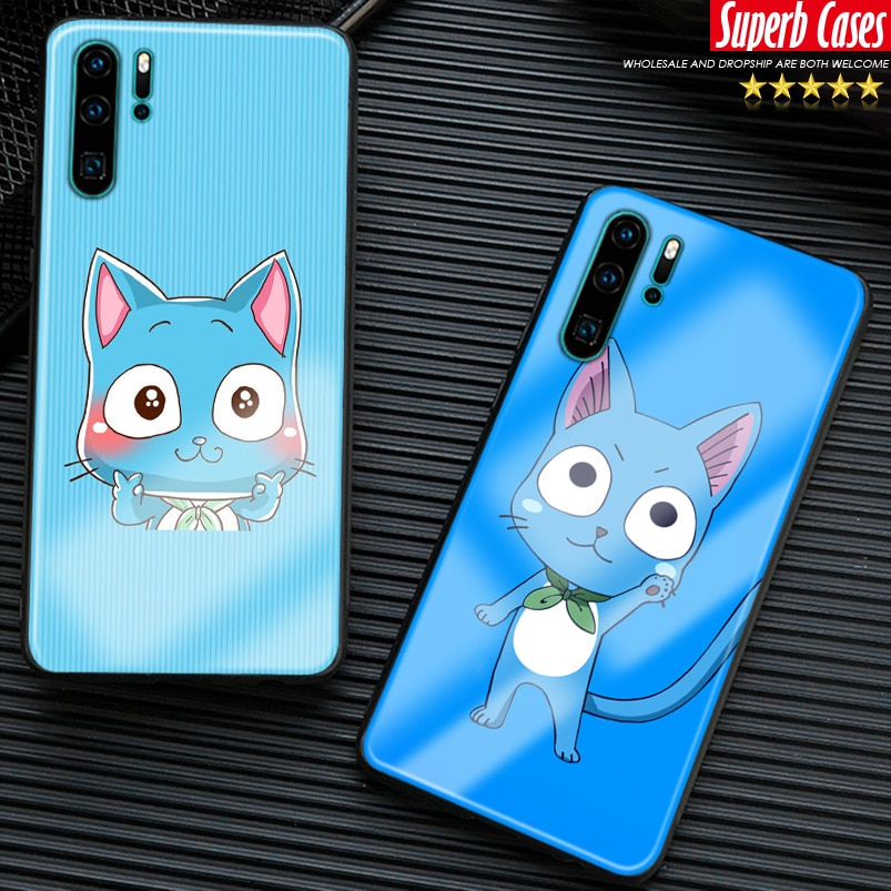 HAPPY Fairy Tail para Huawei Honor V Mate P 9 10 20 30 Lite Pro Plus Nova 2 3 4 5 suave funda de silicona para teléfono